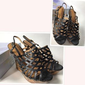 Qupid wedge heels sandals size 8.5 new